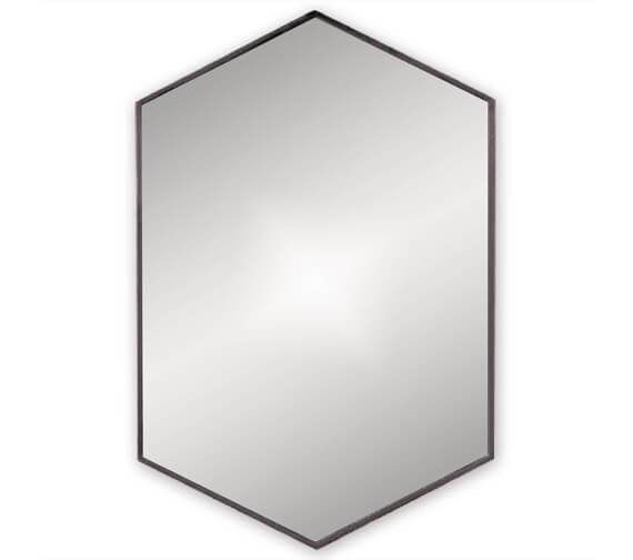Bathroom Origins Docklands Hexagon 500mm Framed Mirror - B375516