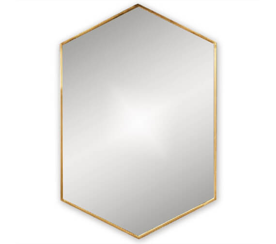 Alternate image of Bathroom Origins Docklands Hexagon 500mm Framed Mirror - B375516