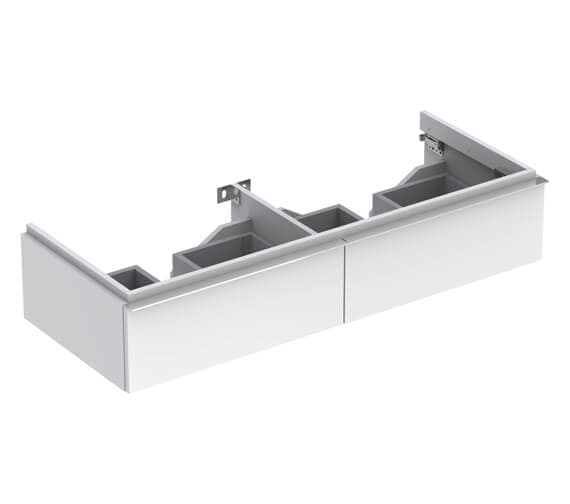 Geberit Icon 1190 x 477mm Two Drawers Vanity Unit For Double Basin