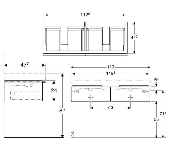 Technical drawing QS-V93772 / 500.443.01.1
