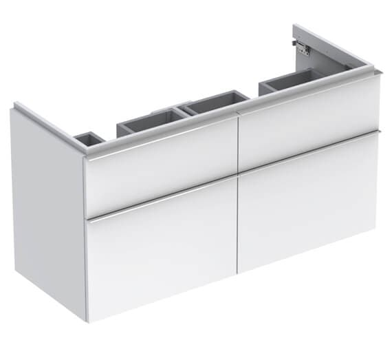 Geberit Icon 1190 x 477mm Four Drawers Vanity Unit For Double Basin