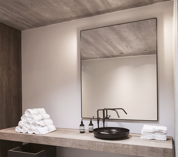 Bathroom Origins Docklands Rectangular Framed Mirror