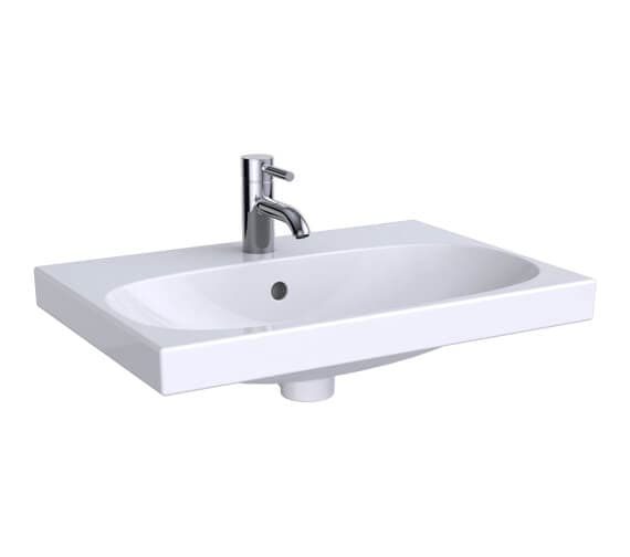 Geberit Acanto 600 x 422mm Small Projection Compact Washbasin