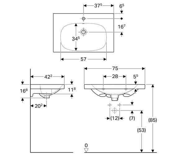 Technical drawing QS-V93769 / 500.632.01.1