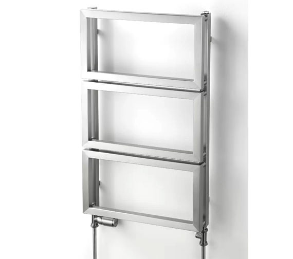 Aeon Fatih 500mm Wide Vertical Stainless Steel Towel Rail