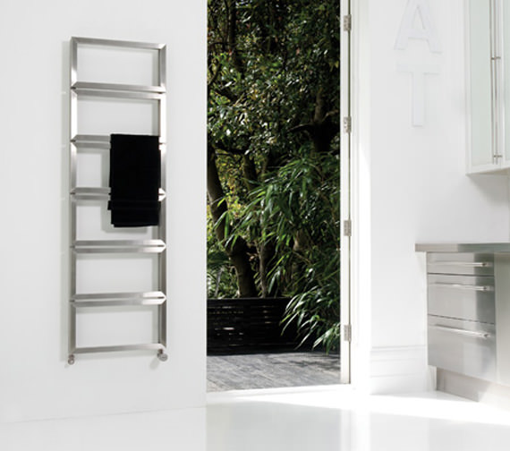 Additional image of Aeon Fatih 500mm Wide Vertical Stainless Steel Towel Rail
