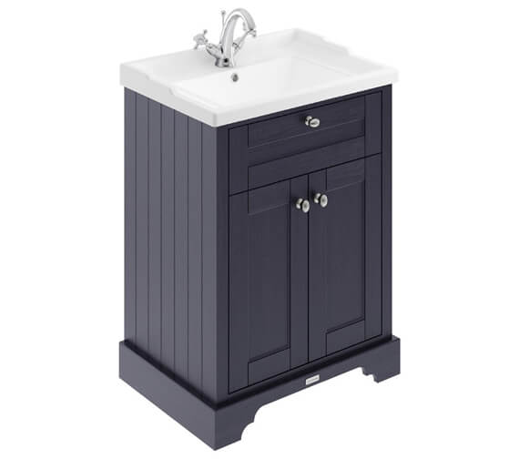 Additional image of Old London 600mm Storm Grey 2 Door Unit With 1 Taphole Basin