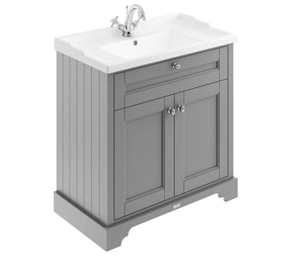 Alternate image of Old London 600mm Storm Grey 2 Door Unit With 1 Taphole Basin