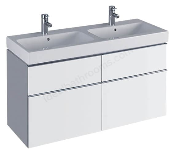 Additional image of Geberit Icon 1190 x 477mm Four Drawers Vanity Unit For Double Basin