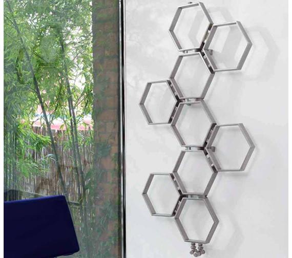 Aeon Honeycomb 550 x 580mm Stainless Steel Designer Radiator