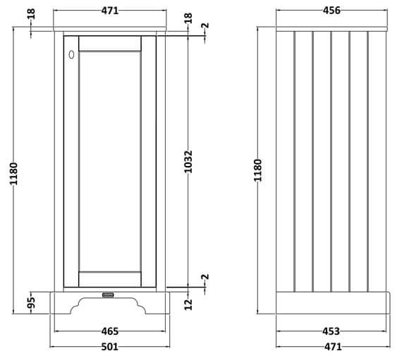 Technical drawing QS-V90776 / LON361