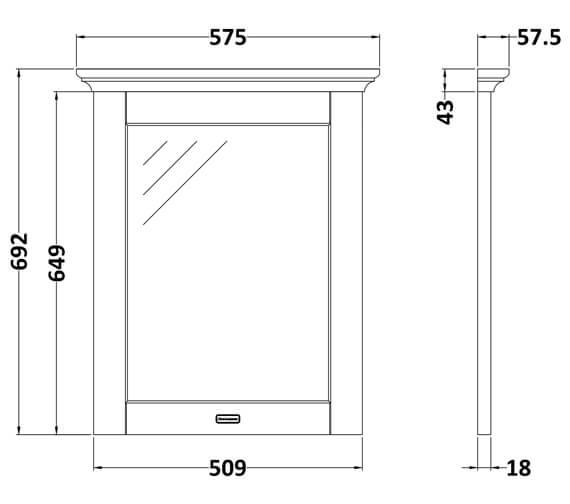 Technical drawing QS-V90777 / LON313