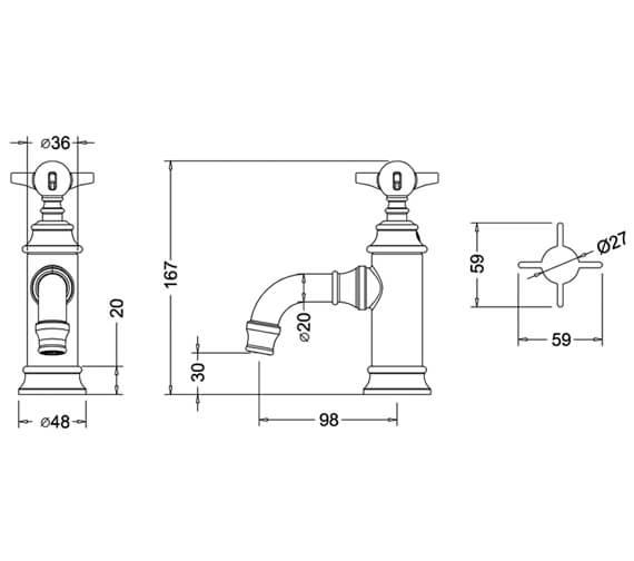 Technical drawing QS-V9382 / ARC35 CHR