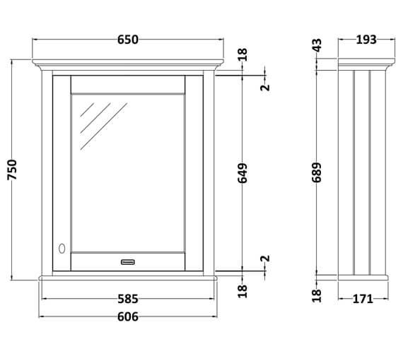 Technical drawing QS-V90778 / LON414