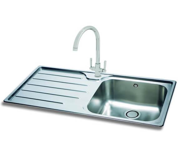 Carron Phoenix Ibis 100 Left Hand 1.0 Bowl Inset Kitchen Sink