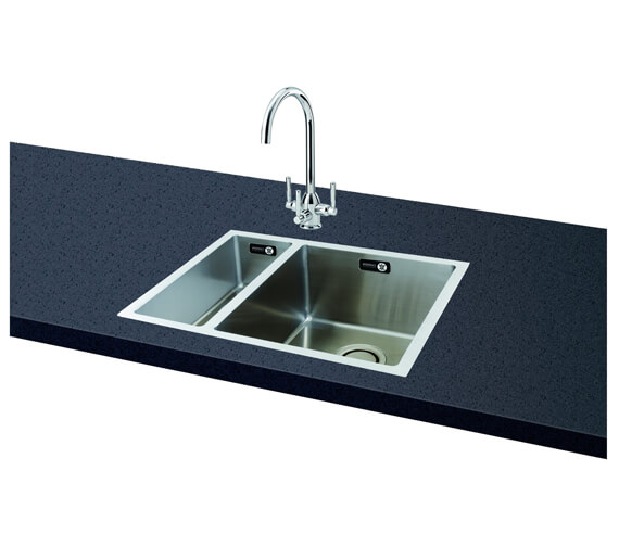 Carron Phoenix Deca 150 Left Hand 1.5 Bowl Kitchen Sink