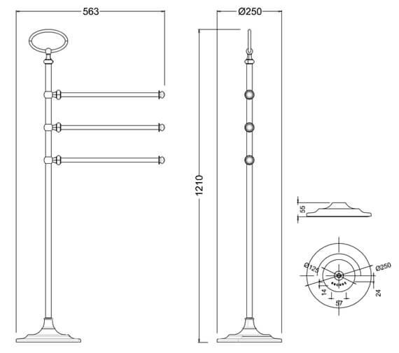 Technical drawing QS-V95484 / ARCA43 NKL