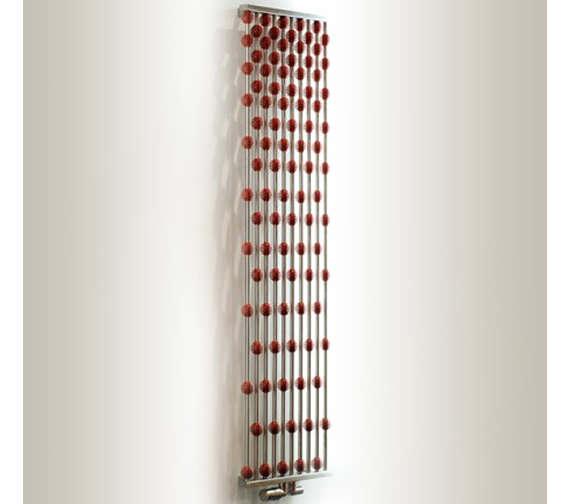 Alternate image of Aeon Abacus 460 x 1600mm Vertical Designer Radiator Silver