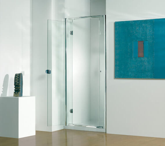 Kudos Infinite 1900mm High Straight Hinged Shower Door