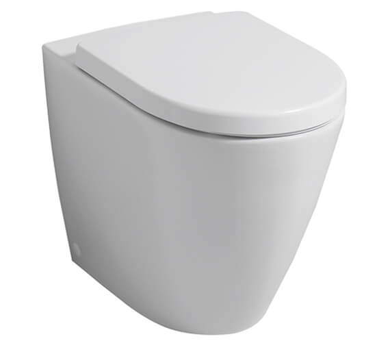 Geberit Icon 355 x 405mm Back To Wall Floor Standing Rimless WC Pan