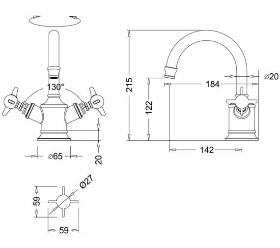 Technical drawing QS-V9384 / ARC14 CHR