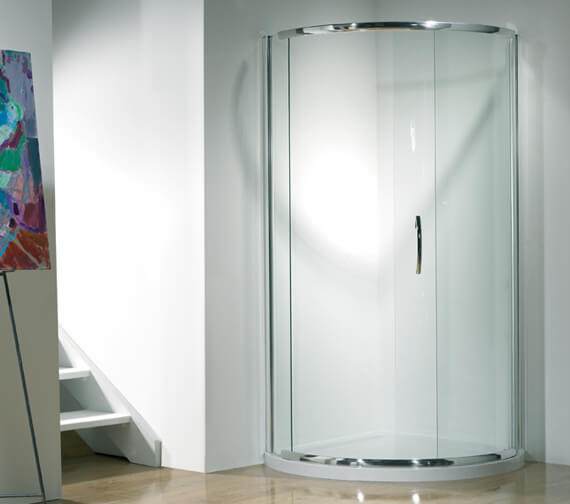 Kudos Infinite 1900mm High Curved Corner Sliding Shower Door