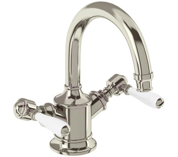 Alternate image of Burlington Arcade Dual Lever Basin Mixer Tap Without Pop Up Waste
