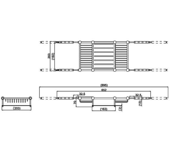 Technical drawing QS-V95481 / ARCA27 CHR