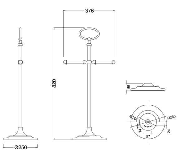 Technical drawing QS-V95483 / ARCA42 NKL