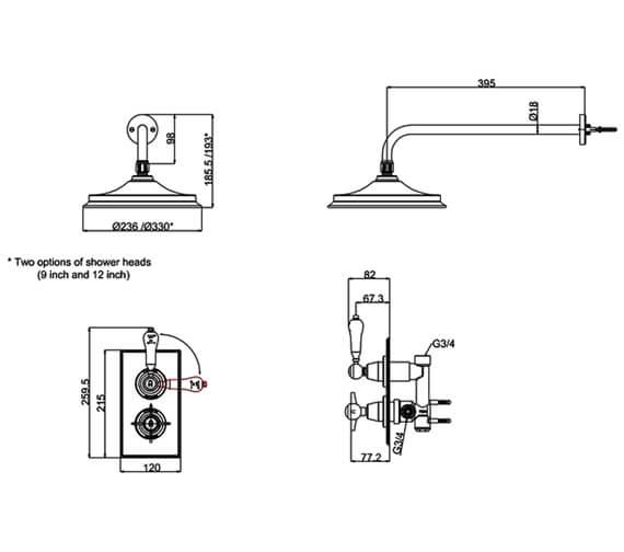 Technical drawing QS-V95488 / ARC73 CHR