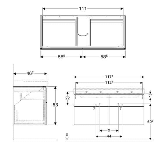Technical drawing QS-V93745 / 500.518.01.1