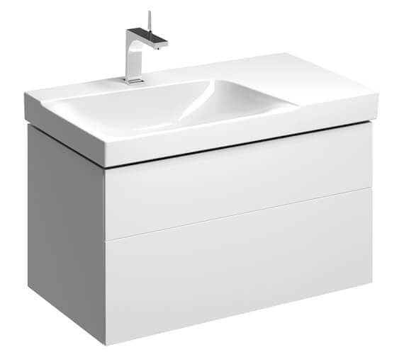 Geberit Xeno2 880 x 462mm Two Drawers Unit For Shelf Surface Basin