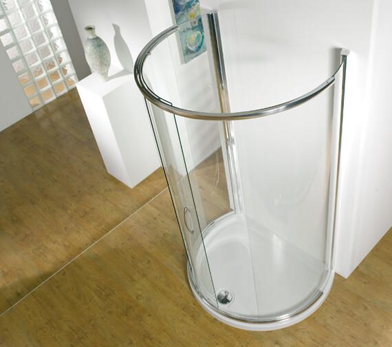 Kudos Infinite 1200 x 910mm Semi-Frameless Curved Sliding Shower Door