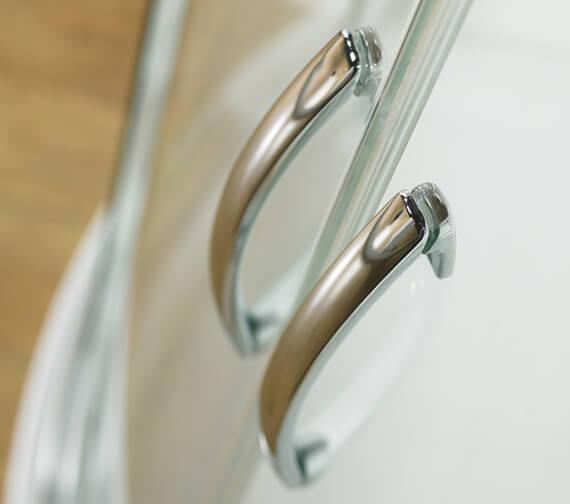 Additional image of Kudos Infinite 1900mm High Offset Curved Sliding Shower Door
