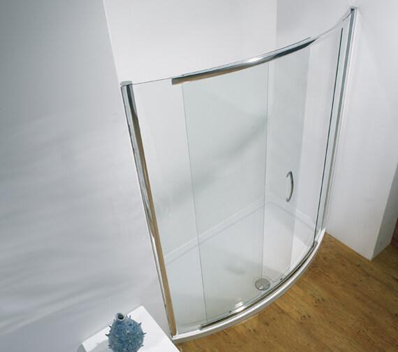 Kudos Infinite 1900mm High Bowed Side Access Sliding Shower Door