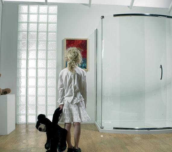 Additional image of Kudos Infinite 1900mm High Bowed Side Access Sliding Shower Door