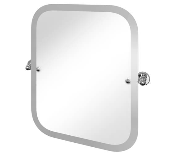 Burlington Arcade Rectangular Wall Mounted Swivel Mirror With Curved Corners