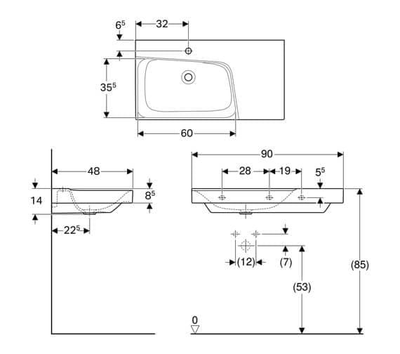 Technical drawing QS-V93751 / 500.535.01.1