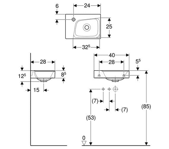 Technical drawing QS-V93749 / 500.528.01.1