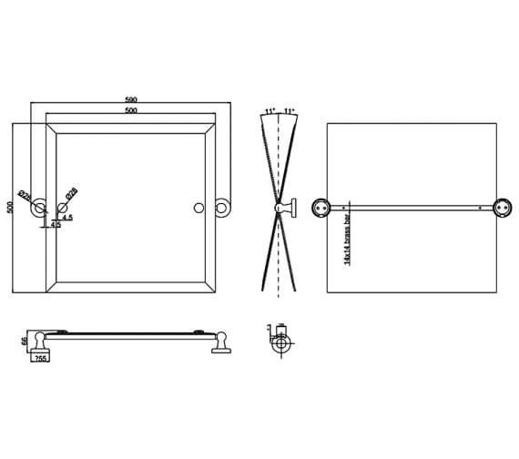 Technical drawing QS-V94148 / ARCA39 CHR