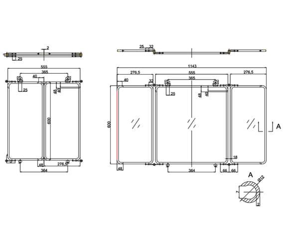 Technical drawing QS-V95492 / ARCA45 NKL