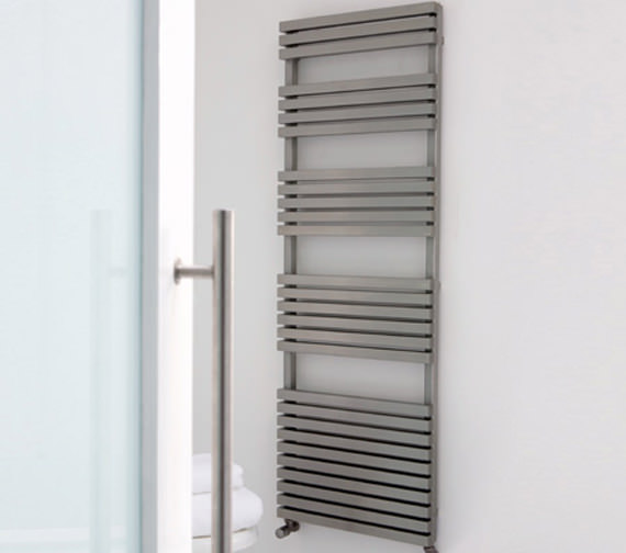 Additional image of Aeon Atilla 500mm Wide Stainless Steel Towel Rail