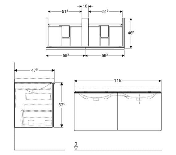 Technical drawing QS-V93754 / 500.613.01.2