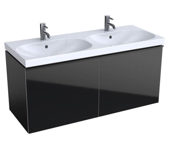 Additional image of Geberit Acanto 1200 x 482mm Two Drawer Vanity Unit And Double Basin