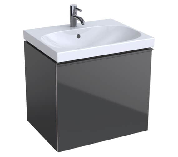 Additional image of Geberit Acanto 535mm High Compact 1 Drawer And 1 Internal Drawer Vanity Unit