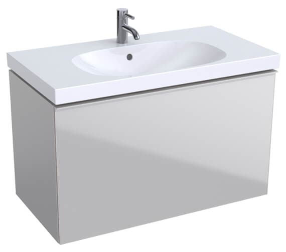 Alternate image of Geberit Acanto 535mm High Compact 1 Drawer And 1 Internal Drawer Vanity Unit