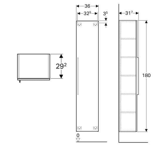 Technical drawing QS-V94654 / 500.417.01.1