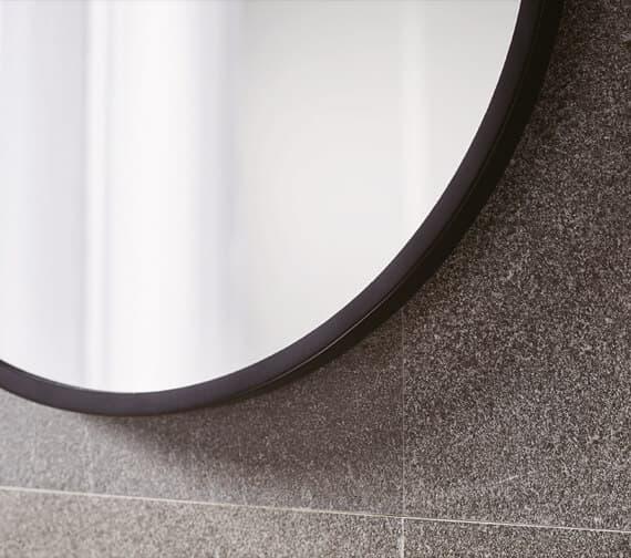 Alternate image of Bathroom Origins Docklands Round Framed Mirror - B375530