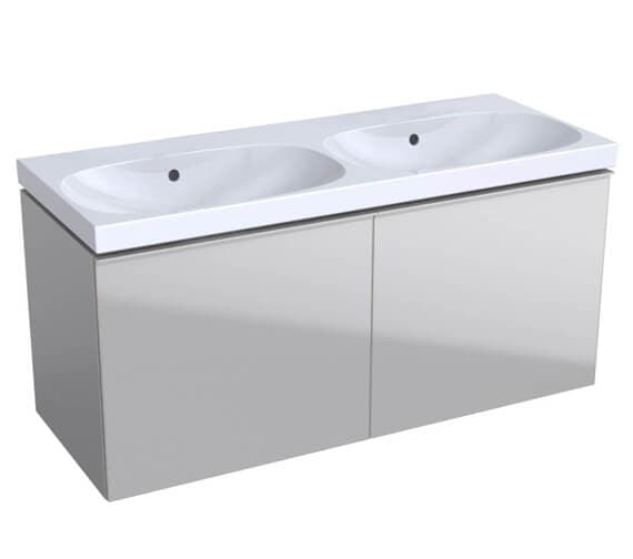 Alternate image of Geberit Acanto 1200 x 482mm Two Drawer Vanity Unit And Double Basin