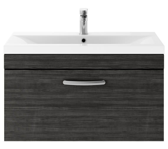 Alternate image of Premier Athena 800mm 1 Drawer Wall Hung Cabinet With Basin 2 Gloss White Finish